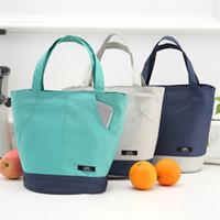 ingrosso ponte in alluminio-Oxford Lunch Box Bag Confezione ad alta capacità Foglio di alluminio Termico Isolamento Termico Wrap Borsa Double Deck Simplicity 7 75jyE1