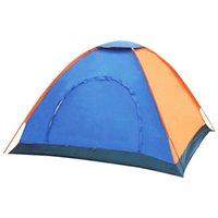 палатки для палаток оптовых-1-2 Люди Ourdoor Кемпинг Палатки Холст Водонепроницаемый Sun Shelter отдых на природе палатка Для Туризма И Сна Аксессуары