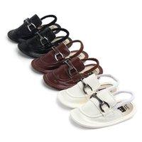 ingrosso sandali in mocassino in pelle-scarpe da neonato scarpe da bambino pelle di mucca scarpe da bambino Mocassini Morbidi scarpe da primo camminatore Sandali da neonato sandali da bambino neonati pantofole