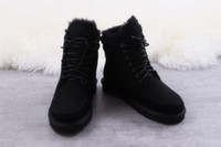 Wholesale female low boots for sale - Winter UGJ Snow Boots Couple Sheepskin One Inner Leather Face Cotton shoes Female Star Snow Boots Size