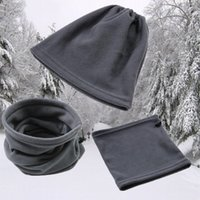 chapéu do velo bonés venda por atacado-Polar Neck Tubo Ear Warmer Gaiter Máscara Facial Headband Inverno Scarf Quente térmica para Camping Caminhadas Headwear Hat Cap Beanie