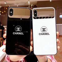 ayna cam iphone durumda toptan satış-Tasarımcı Telefon Kılıfları IPhone X XS MAX XR için 6 S 7 8 Artı cam Arka Kapak ile ayna damla nakliye