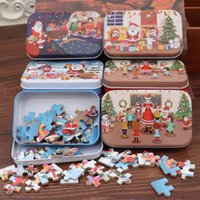 Wholesale toys for christmas diy for sale - Group buy 60pcs Cartoon Kids DIY Puzzle Toy Wooden Santa Claus Jigsaw Toys Children Gifts For Early Educational Supplies jha E1
