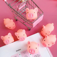 cerdo de vinilo al por mayor-Mini Cerdos Rosados Juguete Lindo Vinilo Squeeze Sound Animals Encantador Antiestrés Squishies Squeeze Cerdo Juguetes para Niños Regalos