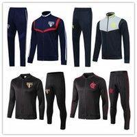 ternos de treino venda por atacado-2019/20 Flamengo treino de futebol Chandal São paulo jaqueta de futebol 19 20 camisas de futebol SE Palmeiras Long pull zipper Training suit