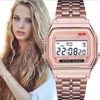 самые тонкие часы оптовых-F-91W LED часы Модные ультратонкие цифровые светодиодные наручные часы F91W Мужчины Женщины Спортивные часы VS умные часы