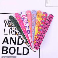 инструменты пилочки для ногтей оптовых-Мода печать двусторонняя инструмент пилочка для ногтей Ева ногтей вдалбливать маникюр неудачу песок бар газа пилочка для ногтей молоть песок блок WWA192