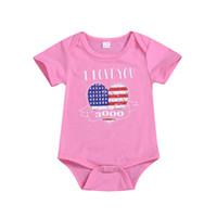 Wholesale baby black romper jumpsuit resale online - Summer Baby Girl Romper American Flag Independence National Day USA th July Short Sleeve Stars Striped Baby Boy Jumpsuit