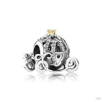 Wholesale 925 sterling silver pumpkin charm resale online - Authentic Sterling Silver pumpkin Car Charms Logo Original box for Pandora Bracelet Charms European Beads for jewelry making