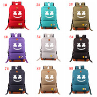 Wholesale canvas cosplay resale online - 9Styles Marshmello Alone DJ School Bag Teenagers Cosplay Canvas Cosplay backpack Travel Casual Laptop Rucksack shoulder storage Bags FFA2931
