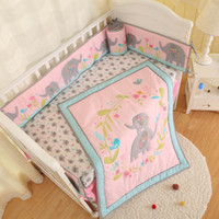кроватки юбки бамперы оптовых-Оптовая новорожденных настроить Детские постельные принадлежности, одеяло, шпаргалка, шпаргалка, юбка, бампер