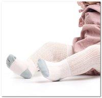 ingrosso lunghe gambe di calze-Neonate calzini bambini pizzo cava traspirante ruffle calze lunghe cotone infantile scorte a maglia bambini appena nati patchwork calzino di colore bambino gambe F747