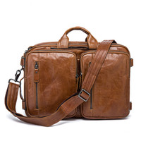 Wholesale highest quality laptop resale online - Cowhide Leather Briefcase Mens Genuine Leather Handbags Crossbody Bags Men s High Quality Luxury Business Messenger Bags Laptop