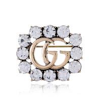 broches de diamantes al por mayor-Accesorios de vestir de lujo de la mujer broche de cristal preciosa aleación fina conjunto diamante corsage juguete