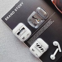 Wholesale hard box bag resale online - New Transparent off Wireless Earphone Charging Cover Bag for AirPods Hard PC whith Bluetooth Box Headset case car