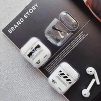 pc için bluetooth kulaklıklar toptan satış-Yeni Şeffaf kapalı AirPods için Kablosuz Kulaklık Şarj Kapak Çanta Şarj 1 2 Sert PC whith Bluetooth Kutusu Kulaklık durumda araba