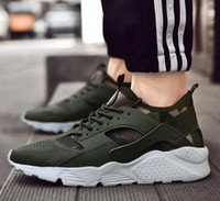 2019 nuova Air Huarache scarpe ultra casual per uomo, donna, Donne Mens Nero Bianco Air Huaraches Huraches Sneakers Athletic Trainers EUR 36 46