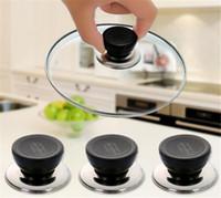 isıtma tavası toptan satış-Isıya Dayanıklı Mutfak Pot Pan Kapak Kapak Tencere Yedek Gereçler Dairesel Holding Kolu Mutfak Malzemeleri