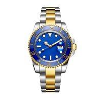 esportes de cerâmica venda por atacado-2019 Hot Luxo Relógios Mens 42mm Cerâmica Bezel 2813 Movimento Esporte Mens Automático Relógio de aço Safira Negócios relógios de pulso de ouro