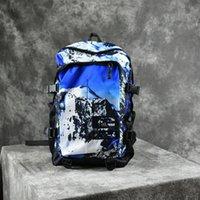 dağ çantası kadınları toptan satış-Sup Marka Sırt Çantası Kar Dağı Baskılar Casual Sırt Çantası Erkekler Kadınlar Okul Çantası Kahverengi Mavi 2 Renk 35xx E1