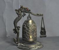 ingrosso drago fengshui-china bronze fengshui lucky dragon Monaco buddista statua di buddha Zhong Bell Chung