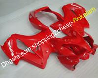 vfr kaplama takımı toptan satış-Honda Için VFR 800R Fairing Kiti VFR800 02-12 VFR800RR VFR 800 2002-2012 Işık Kırmızı Motosiklet Vücut Seti