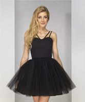 jupon achat en gros de-Mode féminine robe dentelle Spaghetti Strap Cover up up 1950s Vintage Tutu Petticoat Ballet Bubble Jupe