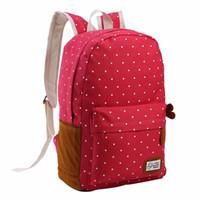 Wholesale rucksack backpacks girls resale online - 6 Colors Canvas Schoolbag backpack for Teenager Girls Mochila Female Travel Satchel Rucksack Outdoor Sports Camping Hiking Bags