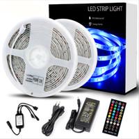led rgb lichtstreifen musik großhandel-Neue RGB-LED-Streifenlichter synchronisieren mit Musik 32,8 Fuß / 10 m flexibler LED-Zierstreifen mit Timing FunctionRemote Controller