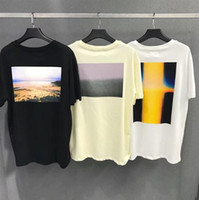 ingrosso california stampa-FEAR OF GOD ESSENTIALS T-Shirt California Limited FOG T-shirt manica corta stampa fotografica Top 100% cotone Tees Drop Shipping