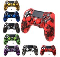 Wholesale skull silicone cases resale online - PS4 Accessories Skull Silicone Gel Guards sleeve Skin Grips Cover Case Caps For Playstation PS4 Pro Slim