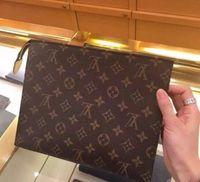 Wholesale washed pu handbags resale online - handbag women travel makeup bag new designer high quality men wash bag cosmetic bags with dust bag MMA1853