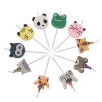 Wholesale candles animal shapes for sale - Group buy 5PCS Pack Cute Animal Carnival Cake Topper Birthday Candles Gift Craft Environmental Children Cartoon Shape Party Supplies