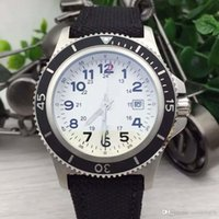 Wholesale watches without logos for sale - Group buy High Performance Man Watch Legible Dial MM Mens Watches Wristwatches With Engraved Logo and Fashionable Fabric Band