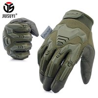 Wholesale fingerless combat gloves resale online - Tactical Gloves Army Paintball Shooting Combat Bicycle Rubber Protective Anti Skid Full Finger Glove Men Women