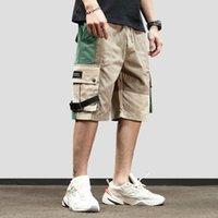 ingrosso tasca pista-Pantaloncini cargo da uomo Hip Hop 2019 Streetwear Pantaloncini da corsa coloratissimo Harajuku Pantaloncini Pantalone HipHop estivo Pantaloncini sportivi