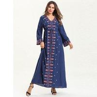 vestidos turcos de verano al por mayor-Verano Abaya Dubai Vestido musulmán Kaftan Ramadan Caftan Marocain Hijab Vestido Abayas para mujeres Elbise Ropa islámica turca