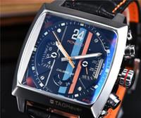 квадратные мужские часы механические оптовых-Топ марки мужские часы TAG роскошные автоматические механические часы кожаные спортивные военные часы мужские квадратные часы мужские дизайнерские часы