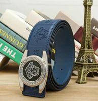 Wholesale custom silver buckles for sale - Group buy Men high grade leather belt custom belt custom leather belt fashion SIZE CM Women Belts Gold and silver buckle