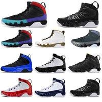 heykel ücretsiz gönderim toptan satış-Ücretsiz nakliye 9 9s erkekler basketbol ayakkabıları jumpman Racer Mavi Salonu Kırmızı UNC Citurs heykeli siyah beyaz erkek eğitmenler spor ayakkabısı boyutu 7-13
