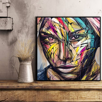 Wholesale urban art paintings for sale - Group buy Urban Art Fair Abstract Color Alec Monopolyingly Canvas Painting Wall Picture Poster And Print Decorative For Living Room Home Decor