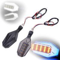 Wholesale 12v headlamp resale online - 2pcs Motorcycle LED Turn Signal Light DRL Daytime Running Light Headlamp Motorbike Indicator Lights V DC W K lights