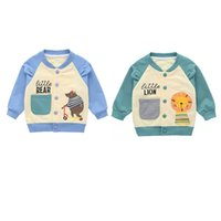 Wholesale baby canvas prints for sale - Group buy Autumn Baby Boy Outerwear Cartoon Print Casual Sweatshirt Kids Jacket Outfits Tops