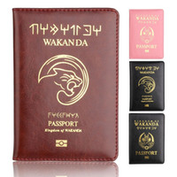 Wholesale travel accessories passport for sale - Group buy Best Wakanda Forever Black Panther Leather Passport Holder Case Light Weigt Travel Accessories Wallet Passport Cover