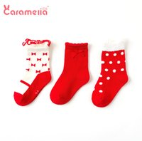 Wholesale 12 years child socks for sale - Group buy Chirstmas Baby girls socks kids Bows princess socks children polka dots Bows knitted socks new years girls cotton breathable sock F9508