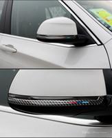 accesorios de colisión al por mayor-BMW F15 F16 F25 F26 Fibra de Carbono Espejo Retrovisor Anti-roce Strip Car Styling Anticolisión Pegatinas Accesorios