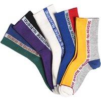 harajuku tarzı çoraplar toptan satış-DROZENO Harajuku tarzı çorap Pamuklu açık çorap Rahat ve nefes alabilen Parlak renkler Mutlu komik açık