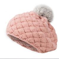 ingrosso cappelli a maglia di calcio bambino-2019 New Baby Winter Hat Knit Crochet Baby Berretto Ragazza Berretto Per Bambini Cotone Warm Cap Carino Caldo Kid Beanie Unisex T252