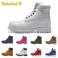 Wholesale men ankle boot cowboy for sale - Group buy 2019 Hot men women designer boots winter snow classic wheat black white red army green fashion mens boot work shoes