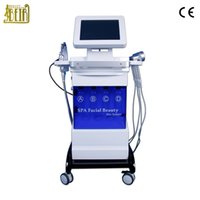 Wholesale led facial treatment machines resale online - 6 in HydraFacial Korea technology Hydra Dermabrasion Facial Beauty Machine with led therapy skin tighten face lift